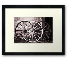Old Wagon Wheels Framed Print