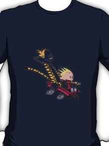 Calvin And Hobbes In Race T-Shirt