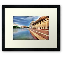 The Plaza Pool1 Framed Print