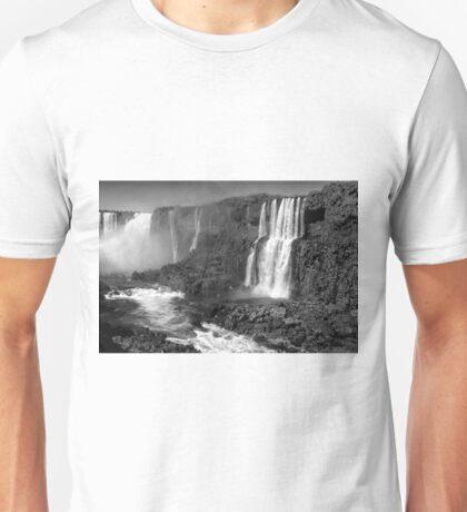 Iguazu in Monochrome Unisex T-Shirt
