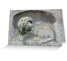 Awesome Skye Terrier Greeting Card