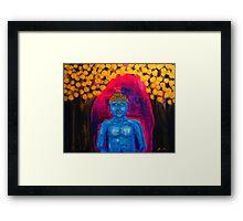 Buddha Among Golden Leafs  Framed Print