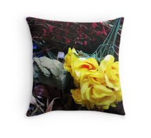 plastic flowers from cemeteries #23 Throw Pillow