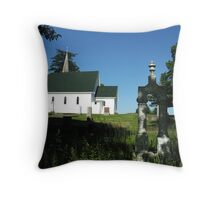 st. francis cemetery Throw Pillow