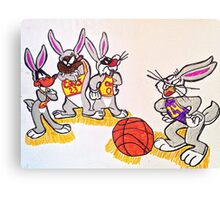 Looney tunes laker and cavaliers Canvas Print
