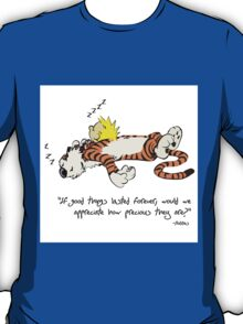 Calvin And Hobbes Nice Qoute  T-Shirt
