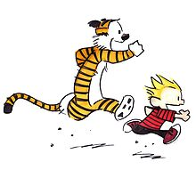 Calvin And Hobbes playing by KattyAnne