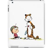 Calvin And Hobbes runner iPad Case/Skin