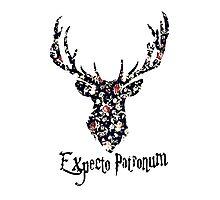 expecto patronum floral Photographic Print