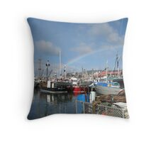 A Colourful Catch Throw Pillow