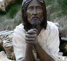 Jesus praying in the garden of Gethsemane by Susan C. Snider