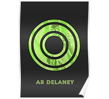 AR Delaney Font Iconic Charactography - O Poster