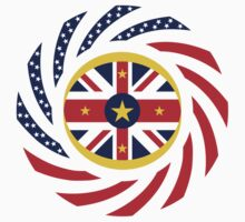 Niuean American Multinational Patriot Flag Series by Carbon-Fibre Media