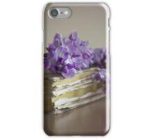 Wisteria on a book iPhone Case/Skin