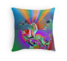 FractalIsIntersexOrCyclopticHermaphrodite Throw Pillow