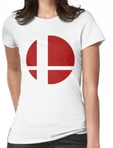 Super Smash Bros Logo Womens Fitted T-Shirt