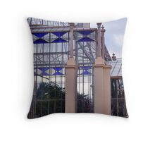 Lavender, Blue and Glass Throw Pillow