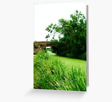 Grantham Canal Greeting Card