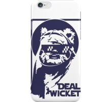 Deal Wicket - Blue iPhone Case/Skin