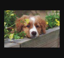 Cute puppy lying in the garden One Piece - Long Sleeve