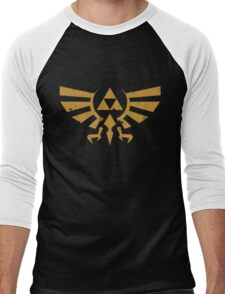 Triforce Crest - Legend of Zelda Men's Baseball ¾ T-Shirt