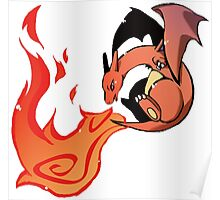 Charizard Fire! Poster