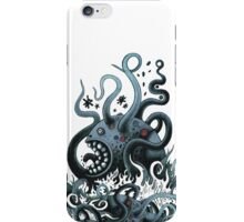 Octoworm (blue version) iPhone Case/Skin