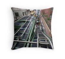 The world's longest escalator, Hong Kong Island. Throw Pillow