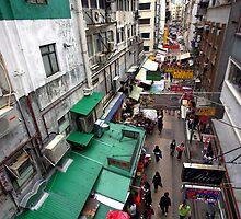 Street market, Hong Kong. by John Mitchell