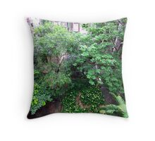 Lily garden, Hong Kong Island. Throw Pillow