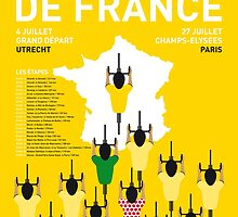 MY TOUR DE FRANCE MINIMAL POSTER 2015-2 by JiLong