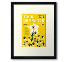 MY TOUR DE FRANCE MINIMAL POSTER 2015-2 Framed Print