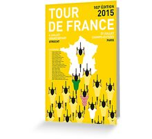 MY TOUR DE FRANCE MINIMAL POSTER 2015-2 Greeting Card