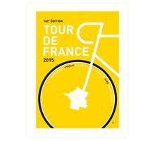 MY TOUR DE FRANCE MINIMAL POSTER 2015 Art Print