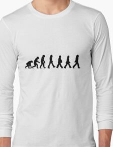 Human Evolution (The Beatles) Long Sleeve T-Shirt