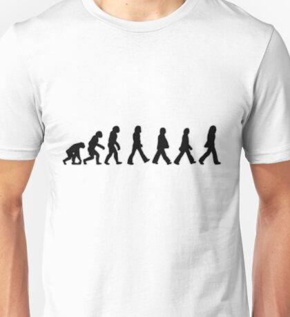 Human Evolution (The Beatles) Unisex T-Shirt