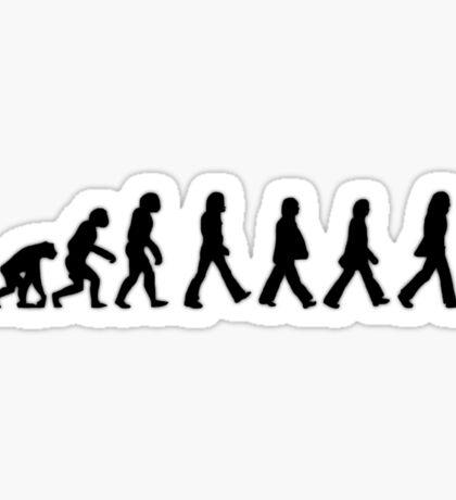 Human Evolution (The Beatles) Sticker