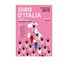 MY GIRO D'ITALIA MINIMAL POSTER 2015-2 Art Print