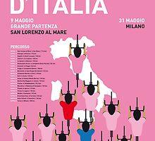 MY GIRO D'ITALIA MINIMAL POSTER 2015-2 by JiLong