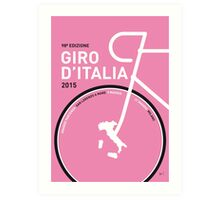 MY GIRO D'ITALIA MINIMAL POSTER 2015 Art Print