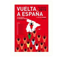 MY VUELTA A ESPANA MINIMAL POSTER 2015-2 Art Print