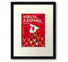 MY VUELTA A ESPANA MINIMAL POSTER 2015-2 Framed Print