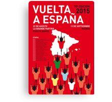 MY VUELTA A ESPANA MINIMAL POSTER 2015-2 Canvas Print