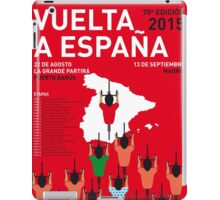 MY VUELTA A ESPANA MINIMAL POSTER 2015-2 iPad Case/Skin