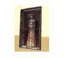 """Cinco de Mayo"" Skeleton In The Window Art Print"