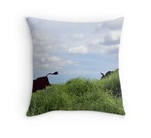 Who Let the Bulls Out? Throw Pillow