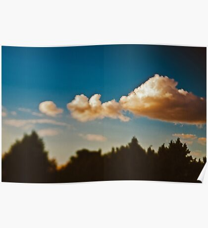 Summer sky above Moscow Poster