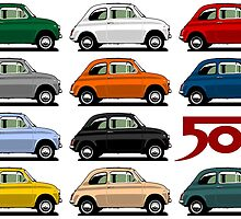 Classic Fiat 500 by car2oonz