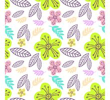 Summer flowers seamless vector pattern Photographic Print