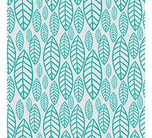 Vector leaf seamless pattern Photographic Print